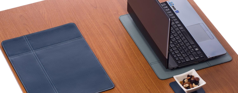 nikalaz corporate and horeca genuine leather placemat blue